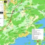 Karta Västerhaninge till Gålöbasen