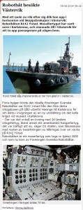 Västerviksposten 09.06.2014 08:18