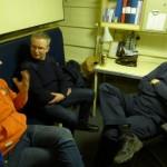 Eftersnack efter mötet, ombord på YSD